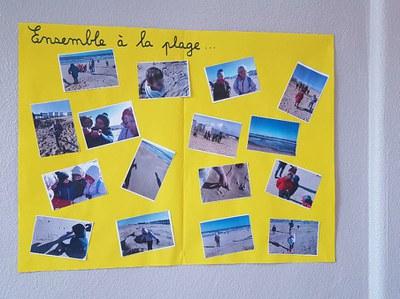 école inclusive à la plage
